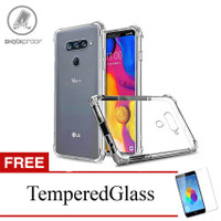 ShockProof Case For LG V40 ThinQ - 6.4 inch - Clear - Gratis Tempered