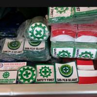 Logo Emblem K3 Safety First, Bendera Merah Putih, Burung Garuda