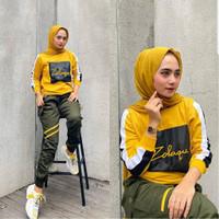 Zolaqu set sporty baju setelan olahraga senam training muslim wanita