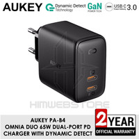 AUKEY PA-B4 Omnia Duo 65W Dual-Port PD Power Delivery Wall Charger