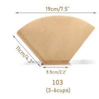 BESAR UK 103 Kertas Filter Drip Coffee Filter Paper 3to6cup Isi 100pcs