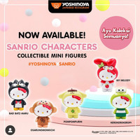 Sanrio mini figure characters   karakter Yoshinoya - mainan yoshinoya