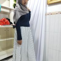 Rok plisket panjang jumbo /Rok motif Kerja muslim wanita/Rok murah