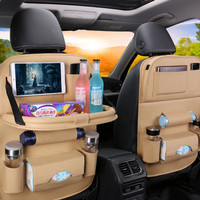 Car seat Back Organizer / Jok Mobil / Original premium Leather - Putih