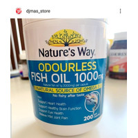 Natures Way Vitamins 200 Kapsul Fish oil 1000mg Minyak Ikan OMEGA