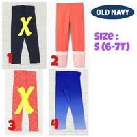 Celana panjang legging 7/8 anak perempuan 6/7 tahun branded old navy