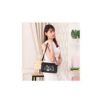 Tas Selempang Korea Wanita Kulit PU Luxurious Flower Leather