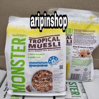 Hemat monster high fibre muesli+monster tropical muesli 700gr