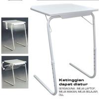 Meja lipat portable buat Laptop - Belajar - Makan warna putih