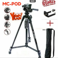 tripod weifeng portable light weight video dan kamera WT-3520