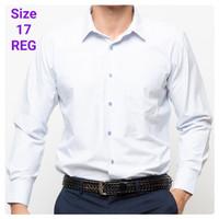 Kemeja Panjang Pria Size 17 Regular Stanley Adams Putih Motif