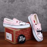 Sepatu Vans Slip On Peanuts Smack Pearl Pink DT BNIB