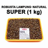 KOPI ROBUSTA LAMPUNG SUPER 1 KG BIJI KOPI / BUBUK - Kasar Sedang