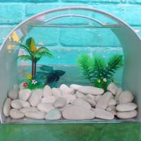 aquarium mini unik akrilic pvc terkini