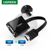 UGREEN 40248 Converter HDMI Male To VGA Female With Audio Adapter
