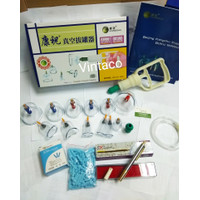Paket Hemat Kop Bekam Kangzhu isi 12 + Pen Bekam SS SM 158 + JARUM