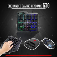 Mobile Gaming Keyboard + Mouse Game LINGZHA Converter G30 One Handed