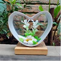 aquarium mini unik akrilik pvc love cupang