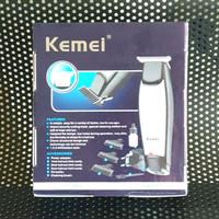 Mesin cukur rambut detailer cordless kemei km 5021 rechargeable