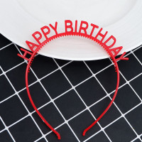 Bando Plastik / Headband Tulisan Happy Birthday