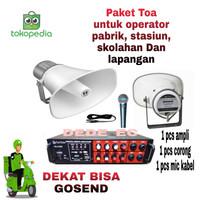 Paket Speaker TOA/Alat panggil operator Pabrik/stasiun/sekolahan dll