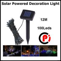 TaffLED Solar Powered Decoration Light 100 LED Lampu Hias Taman 12 Mtr