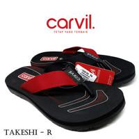 Sandal Pria Carvil Original Anti Air - Sendal Carvil Pria Takeshi Red
