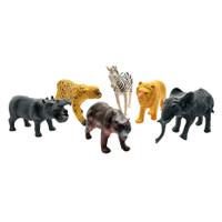 Mainan Safari TS01 Kantong isi 6 Pcs - Animal Figure Murah