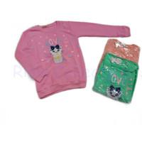 Sweater Anak Love Motif Kucing 7-12 tahun