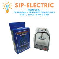 KOMPKITA PENGAMAN / PENGUNCI TABUNG GAS 2 IN 1 / ELPIJI 12 KG & 3 KG