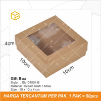 Gift Box Mika, Kotak Souvenir, Packaging, Kemasan Mini TC - GB101004 B