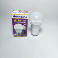Lampu LED Bohlam Bulat Hannochs Alfa 3 Watt / Lampu LED Cahaya Putih