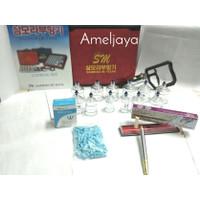 Paket Hemat Kop Bekam Sammora Premium isi 12 + Pen Bekam 158 + Jarum