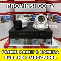 Paket CCTV 4 Channel 2 Kamera 3MP Full HD Camera Komplit HDD 500GB