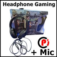 Headphone Gaming Headset Game Plus Mic Microphone Model X24