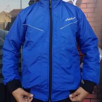 jaket rider motor pria bahan despo premium - Biru, L