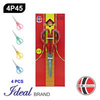 IDEAL 4P45 Paket 4 Pcs Gunting Sekolah (14CM)