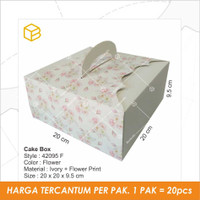 Packaging, Kemasan, Dus Box Kue, Gift, Kotak | TC - 42095 FLOWER