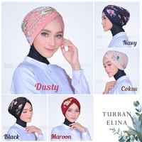 jilbab turban dewasa motif
