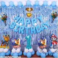 Paket set balon ulang tahun anak paw patrol birthday marshall chase - umur 9
