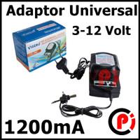 Adaptor Universal 3 Volt sampai 12 Volt 1200mA Cocok Untuk Bor PCB