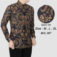 Baju Batik Kemeja pria slimfit D 178