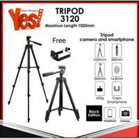 Tripod portable Camera 3210 1m + holder universal Android/mobile phone