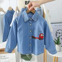 KEMEJA PANJANG ANAK Jeans Truck 1 - 7 Tahun Maxkenzo Baju Anak