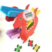 Mainan Edukasi Luncuran Mobil Dinosaurus