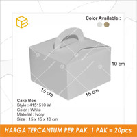 Dus Box Kue, Cake Box, Gift Packaging, Souvenir Box TC - 4151510 WHITE