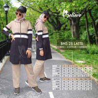 Set Baju Senam Kaos Olahraga Wanita Muslimah BMS 28 Premium Branded