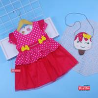(GRATIS TAS) Dress Sakura 3-18 Bulan / EXPORT Quality Baju Anak Bayi