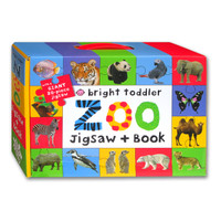 Bright Toddler Zoo Jigsaw + Book With a Giant 20 Pieces Jigsaw