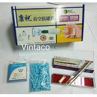 Paket Hemat Kop Bekam Kangzhu isi 6 + Pen Bekam SS SM 158 + Jarum